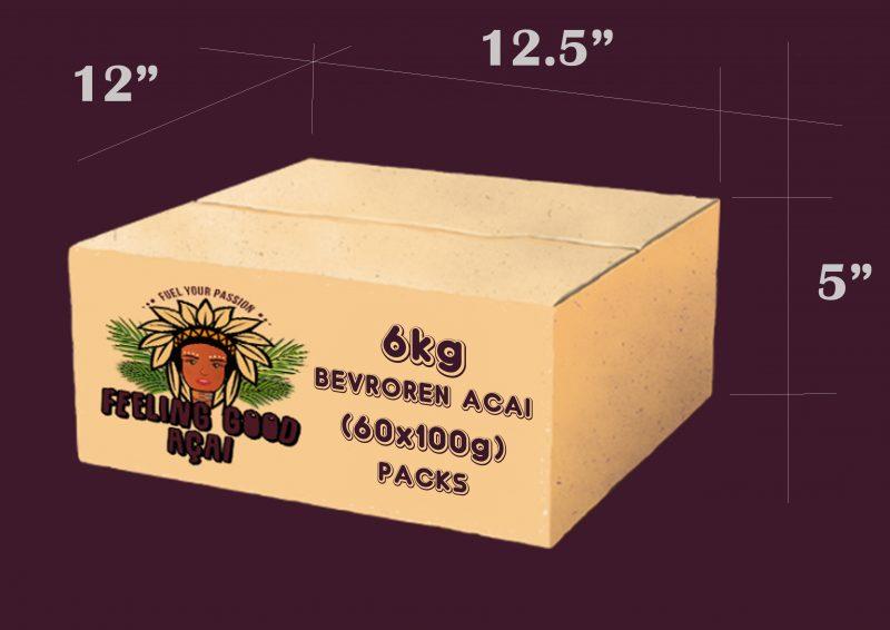 Bevroren Açaí smoothie packs doos 6kg (60x100g)
