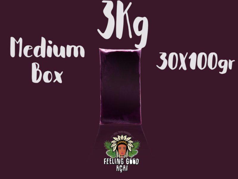 Açaí smoothie packs box 3kg (30x100g)