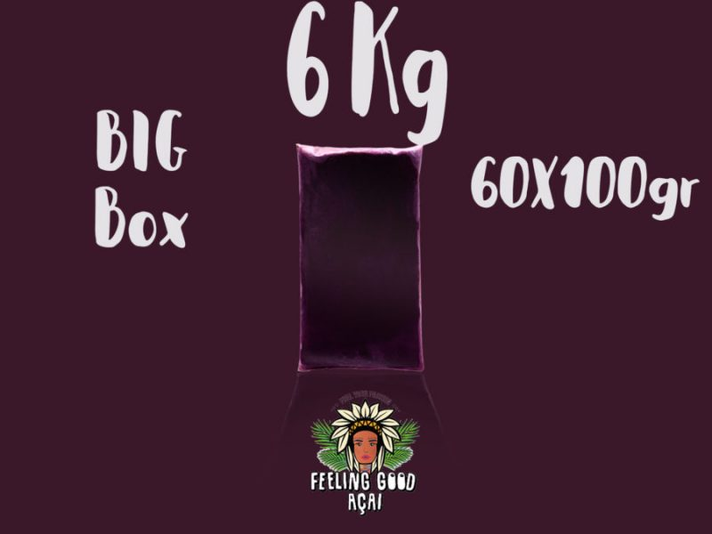 Açaí smoothie packs box 6kg (60x100g)